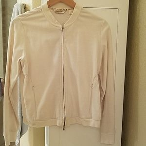 Tommy Bahama zip front sweater